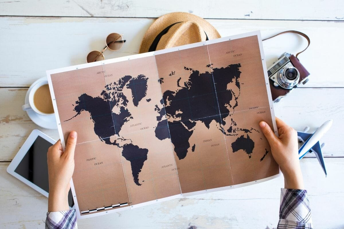 Travel planning with map