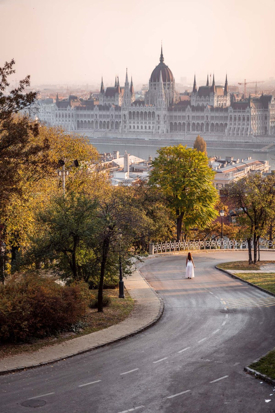 View of the Hungarian Parliament from the Fisherman's Bastion in Budapest