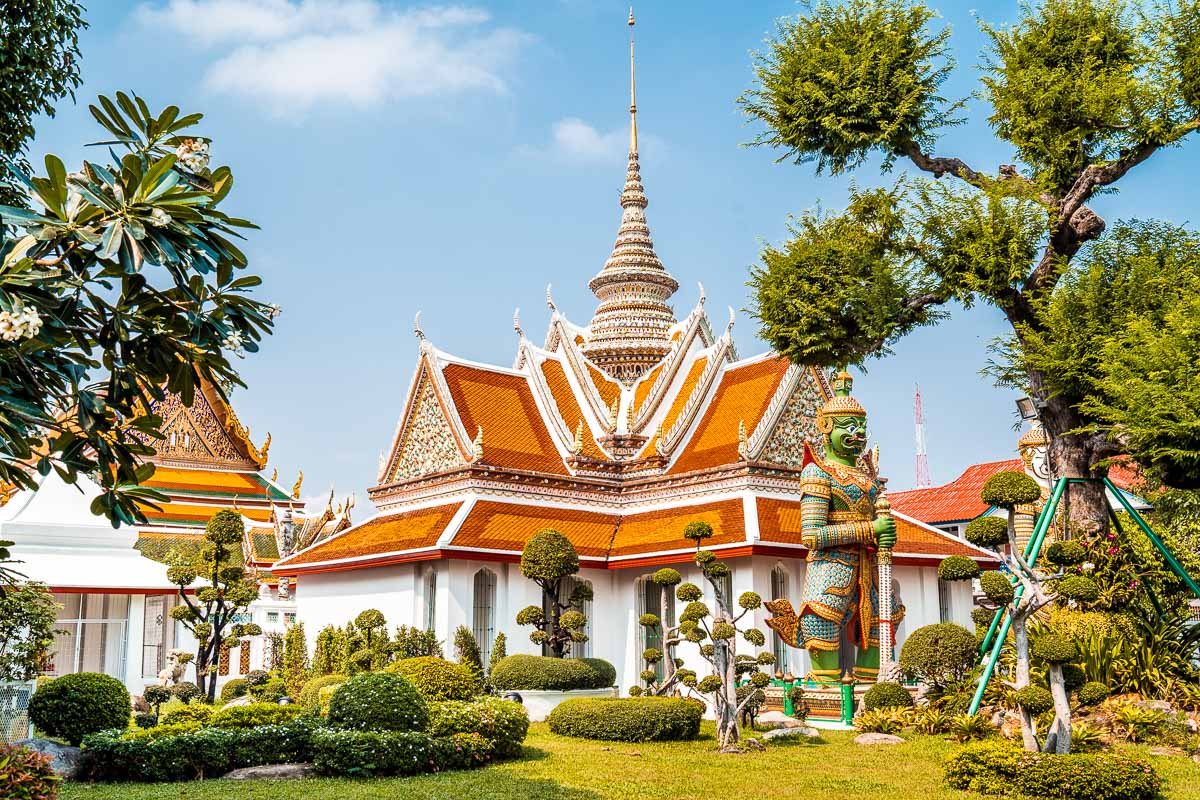 Entrance to the Wat Arun temple in Bangkok, Thailand