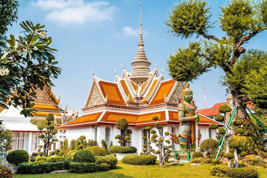 Entrance to the Wat Arun temple in Bangkok, Thailand