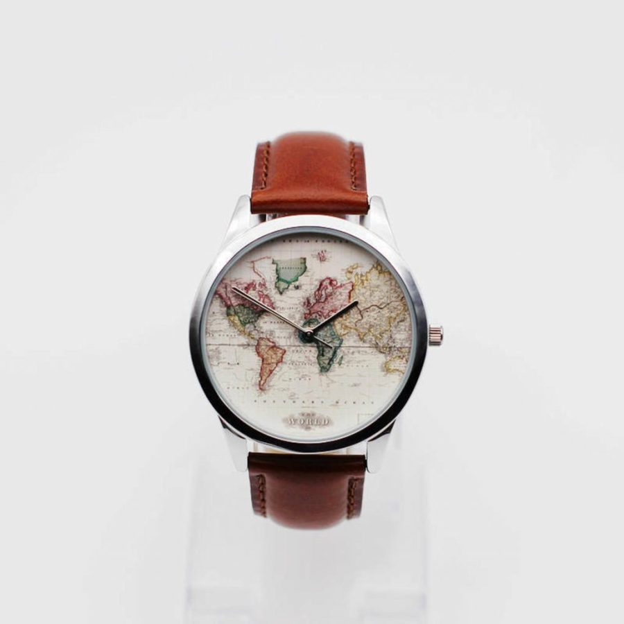 Antique World Map Watch
