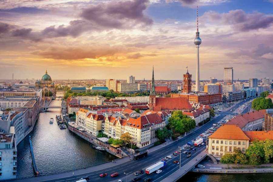 Panoramic view of Berlin, Germany