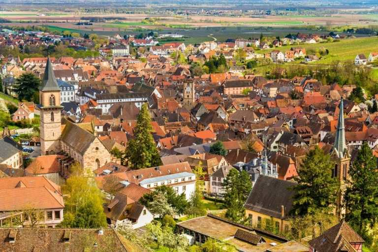 Aerial view of Ribeauville, France