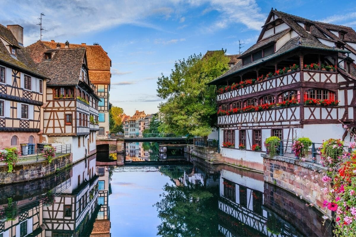 Beautiful houses in Strasbourg, France