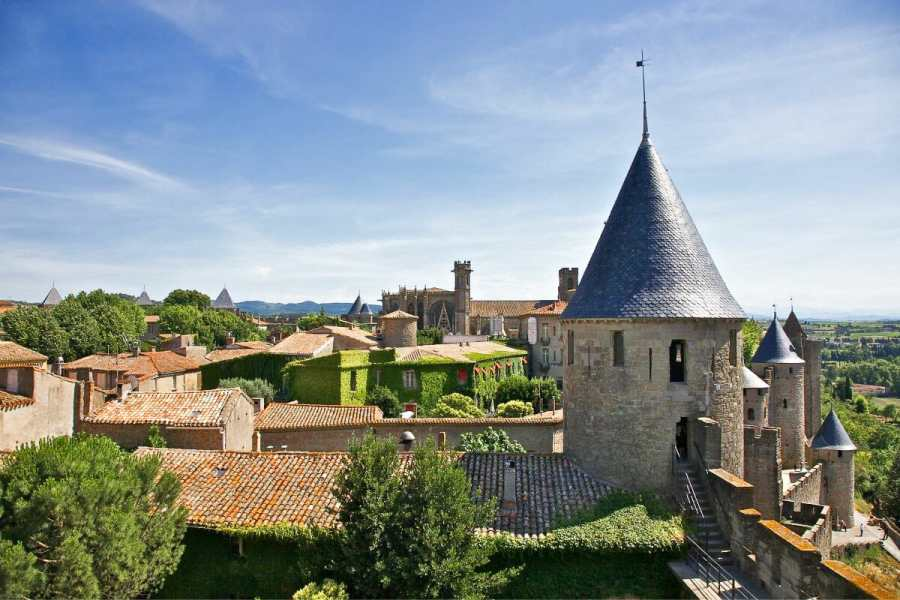 Castle in Carcassone, France