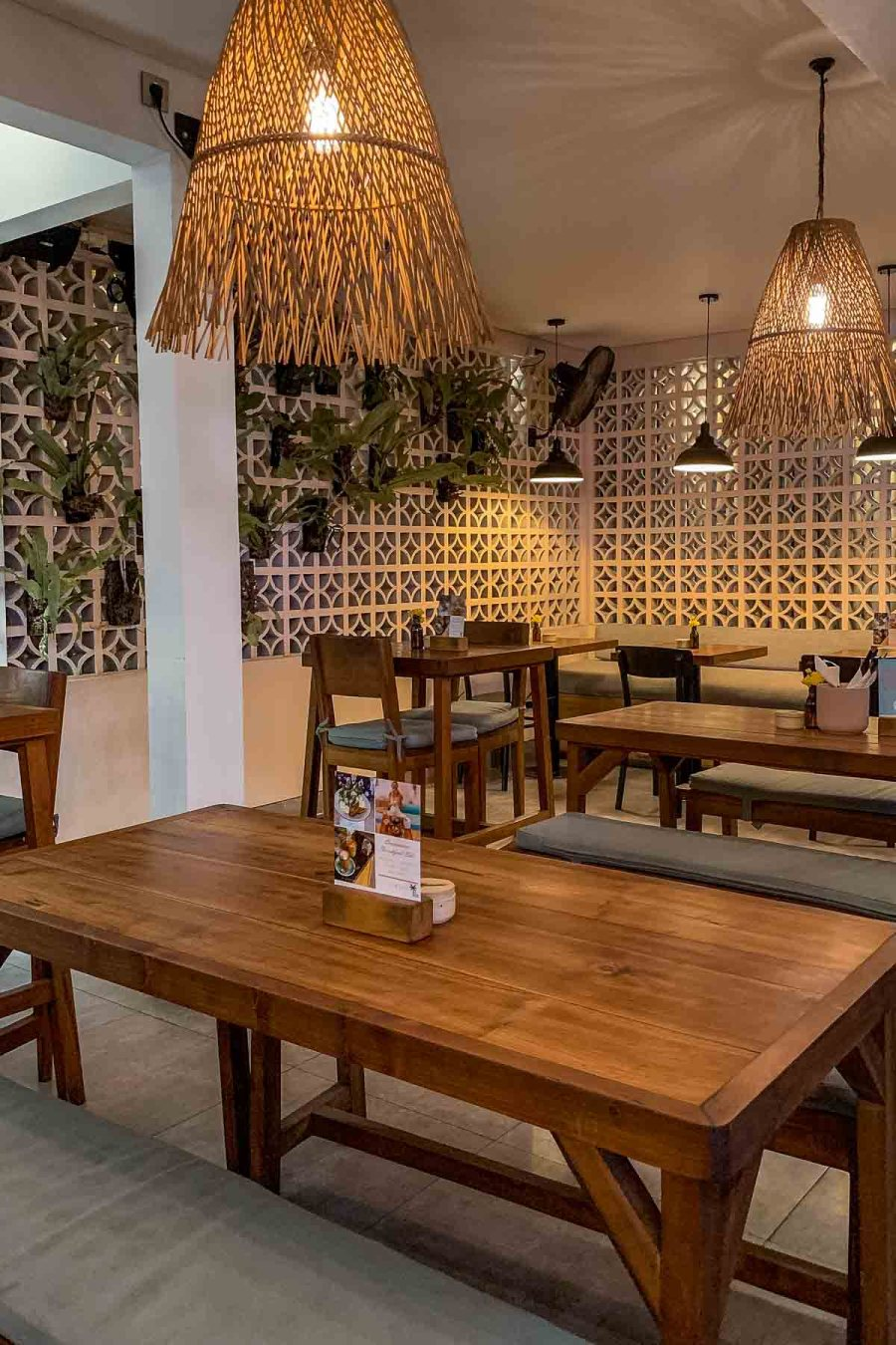 Inside eating area at Common Cafe in Canggu, Bali