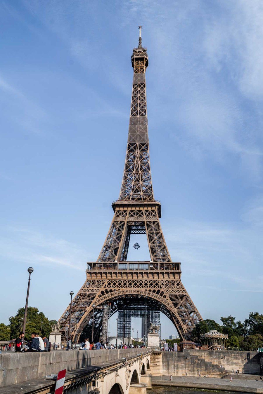 View of the Eiffel Tower from Pont d'Léna
