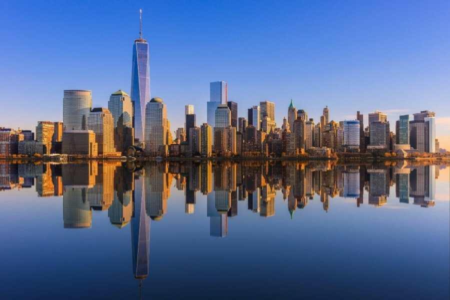 Lower Manhattan Skyline View
