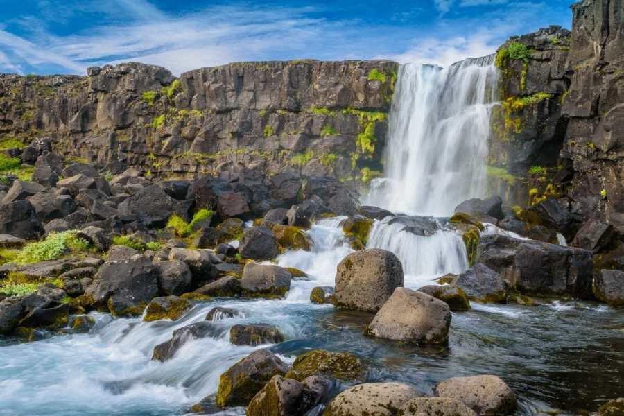 Öxarárfoss in Thingvellir National Park, Iceland