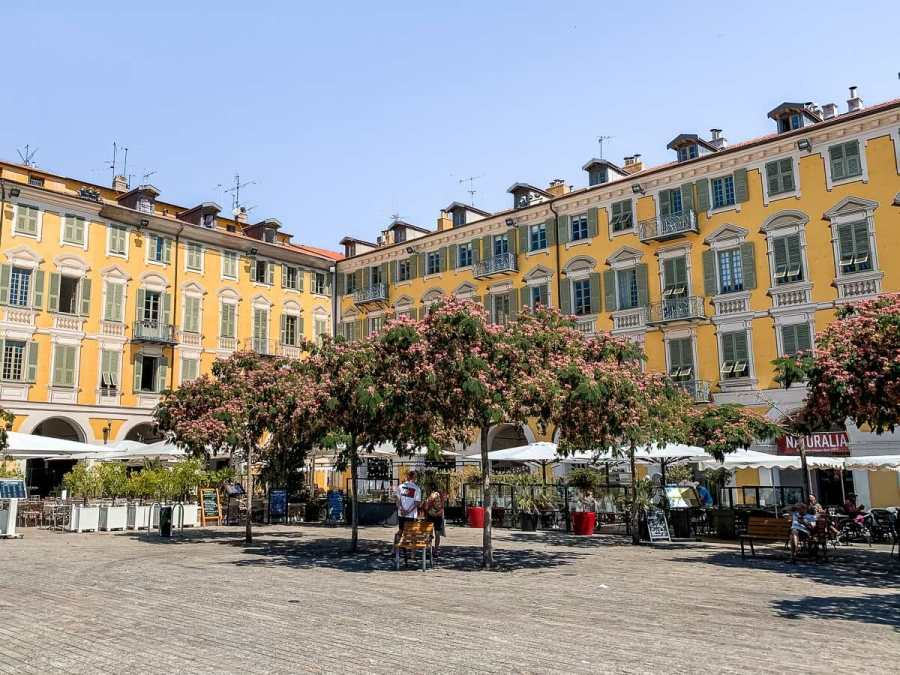 Place Garibaldi in Nice, France