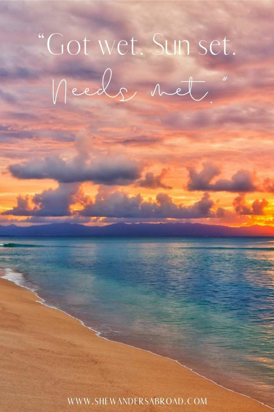 Captions and quotes about sunsets on the beach