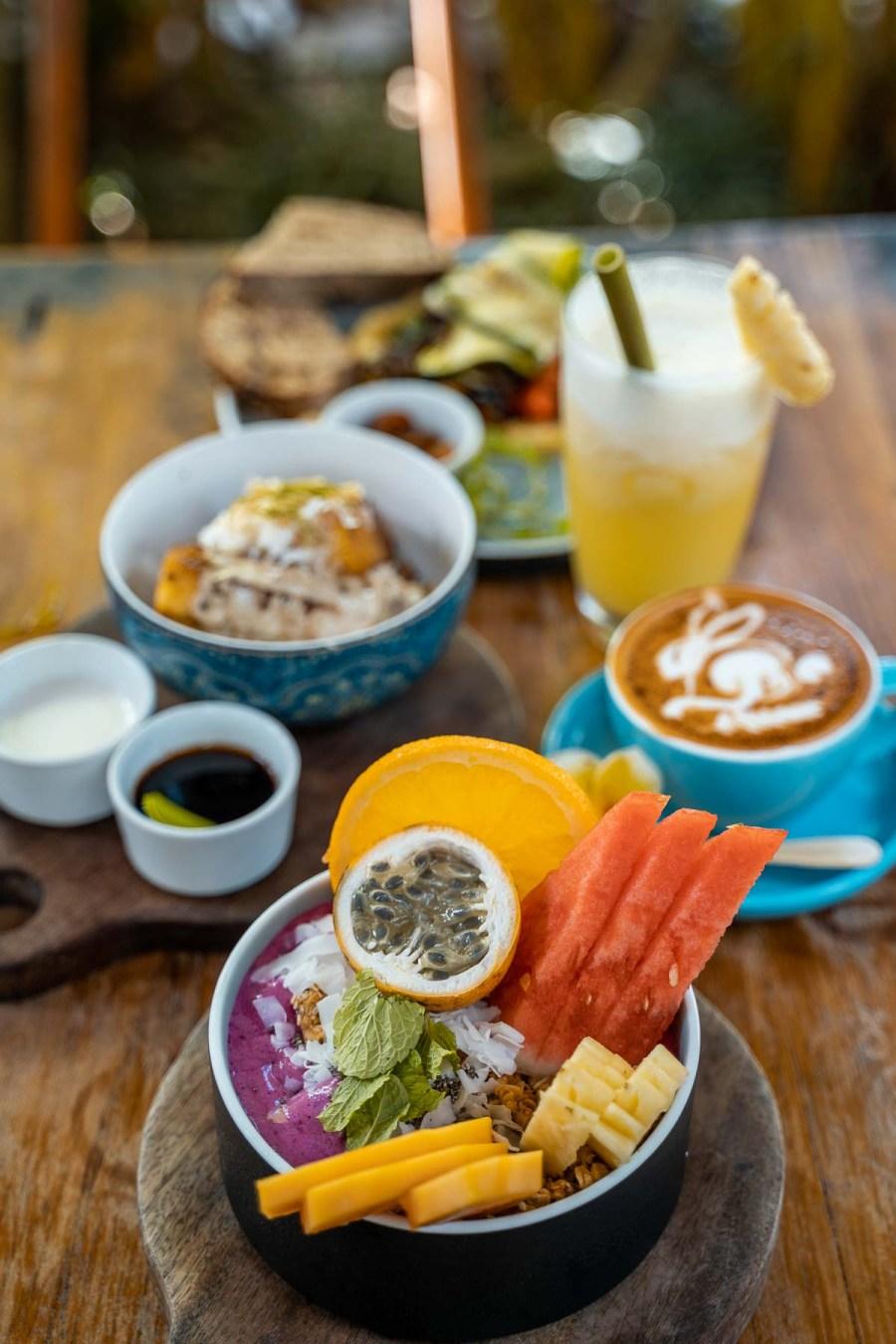 Breakfast spread at the Shady Shack in Canggu, Bali
