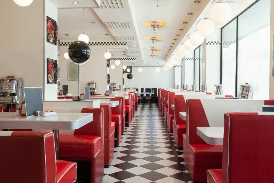 Typical American diner