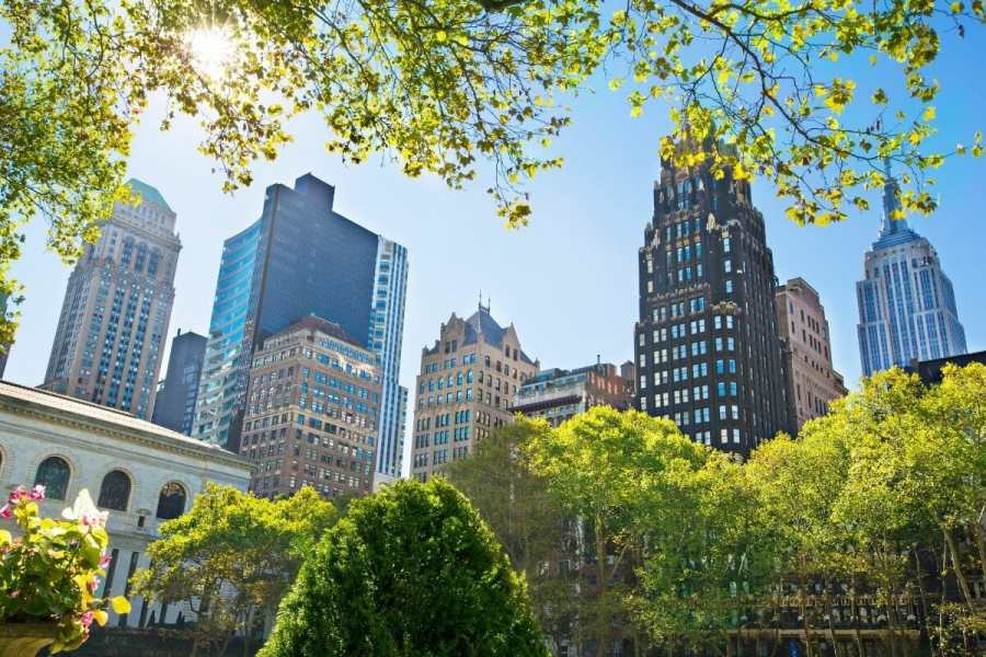 View from Bryant Park in NYC