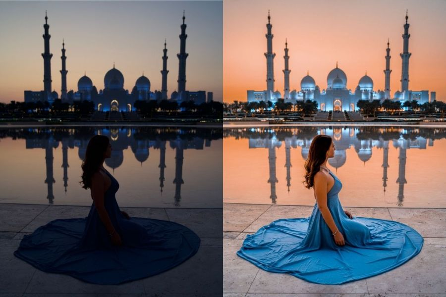 Abu Dhabi Before-After with Lightroom Presets