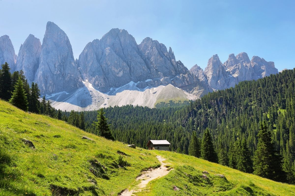 Adolf Munkel Weg in the Dolomites, Italy