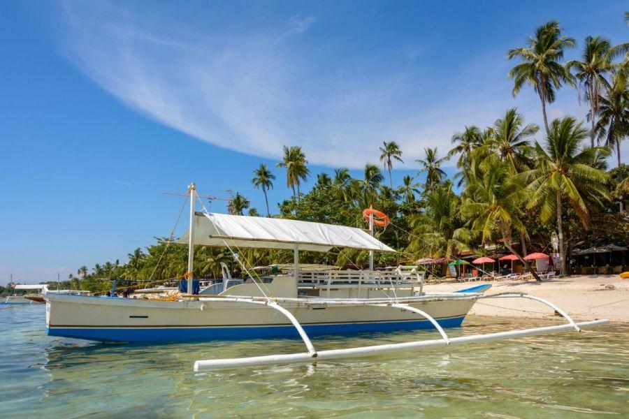 Alona Beach on Panglao Island, Philippines