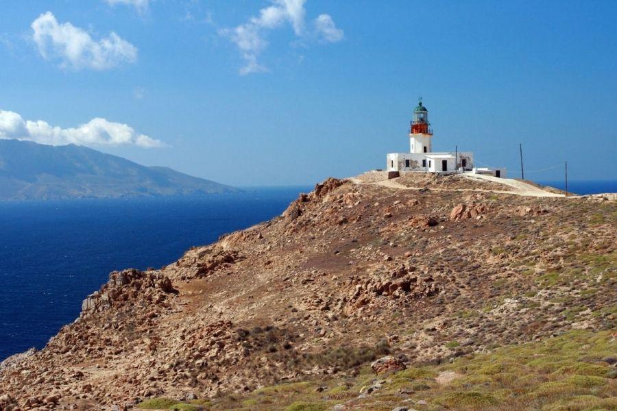 Armenistis Lighthouse in Mykonos, Greece