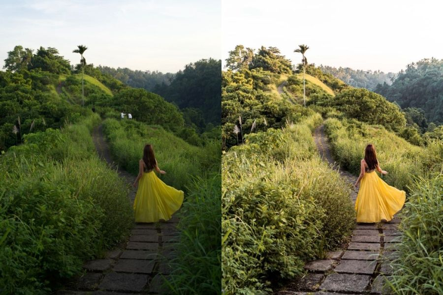 Bali Before-After with Lightroom Presets