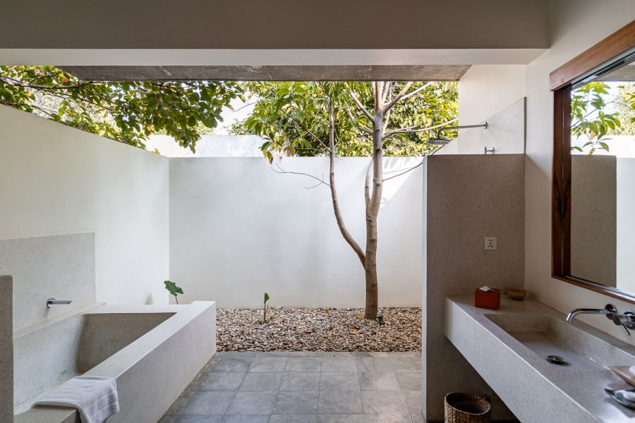 Bathroom in our private pool villa at Templation Siem Reap