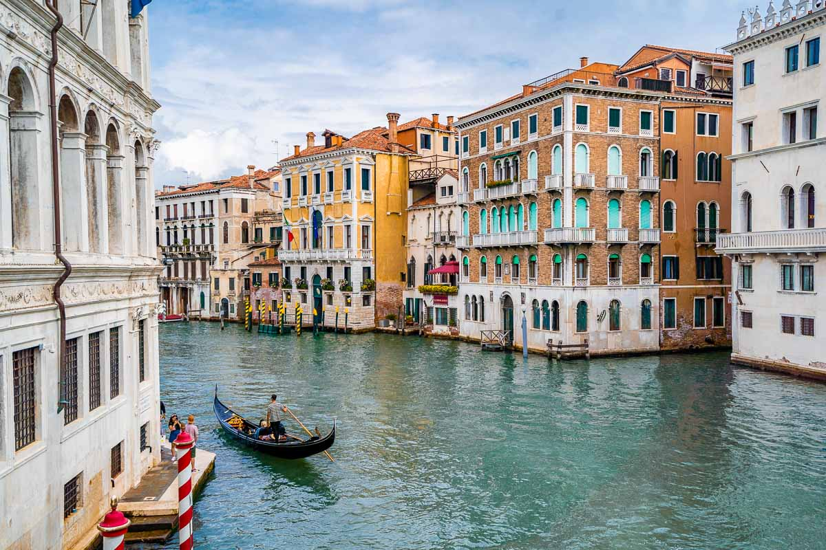 Beautiful canal in Venice, Italy