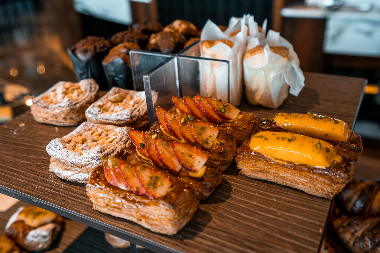 Pastry selections for breakfast