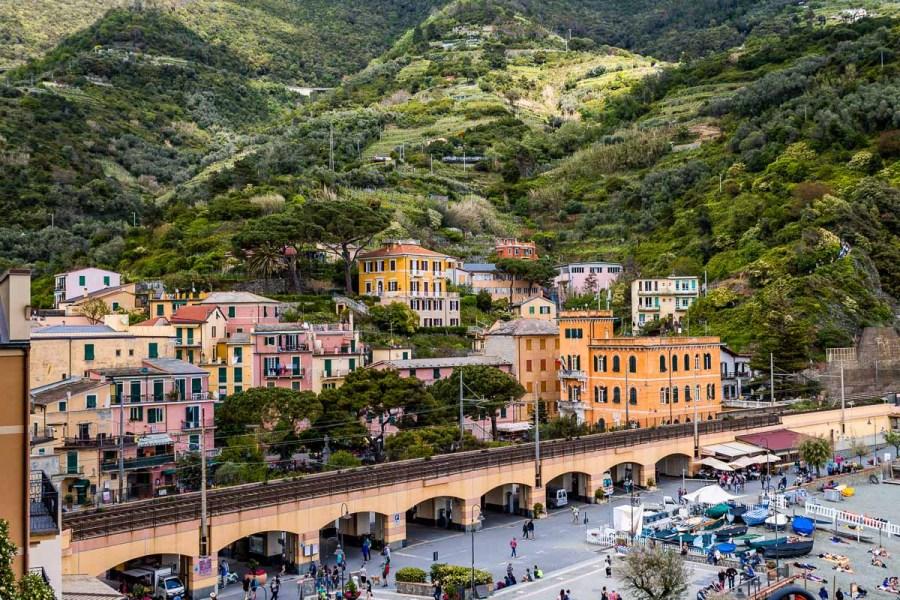Colorful houses in Monterosso al Mare, Cinque Terre, Italy