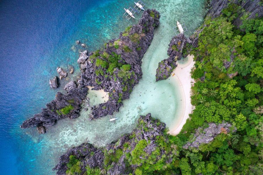 Aerial view of El Nido, Philippines