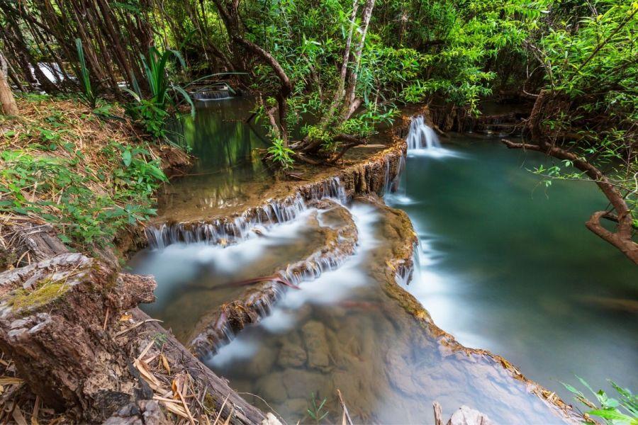 Erawan Falls in Kanchanaburi, Thailand