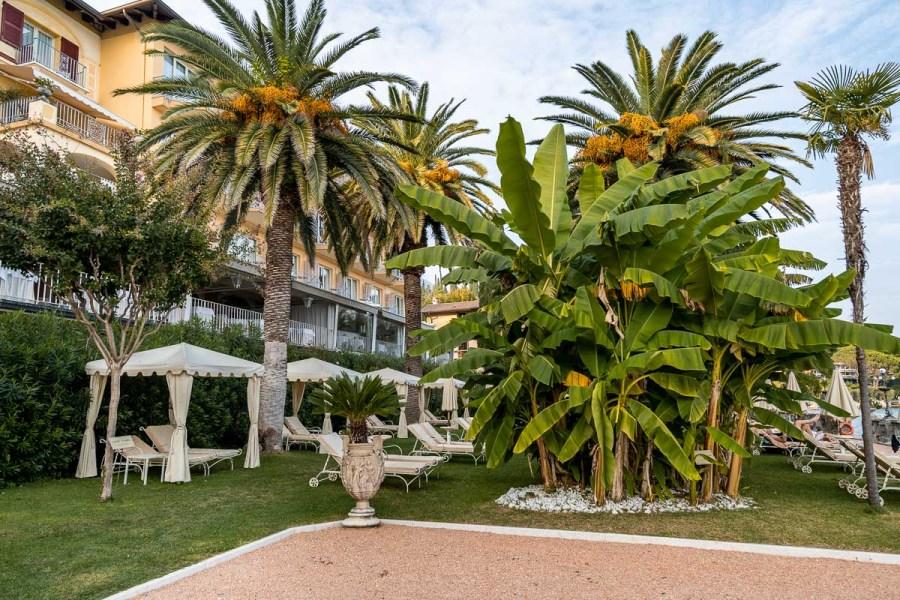 The beautiful garden area at Grand Hotel Fasano
