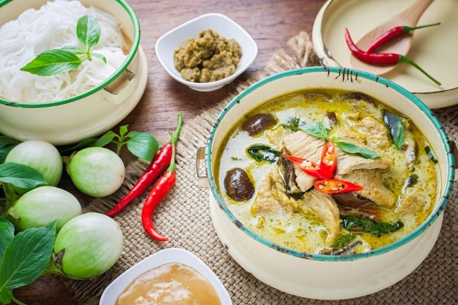 Green curry in Thailand