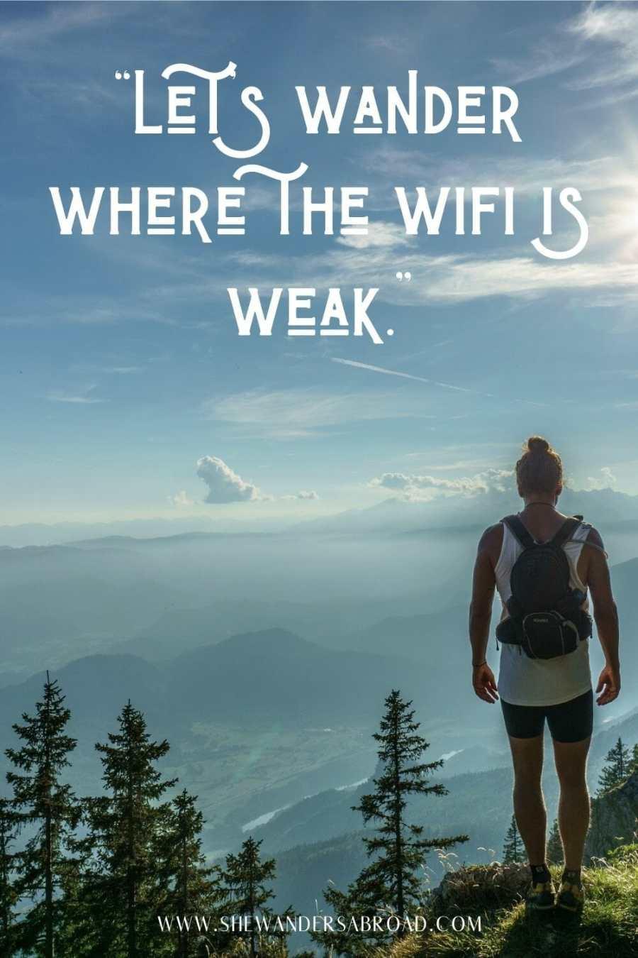 Short hiking Instagram captions