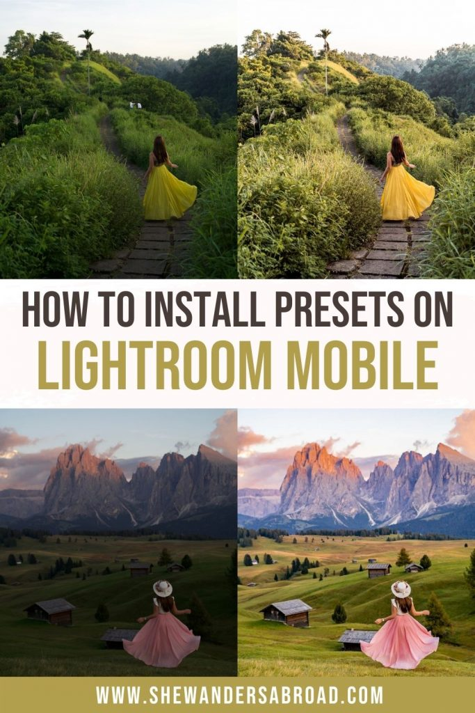 How to Install Lightroom Presets on Mobile