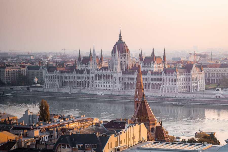 Hungarian Parliament at sunrise