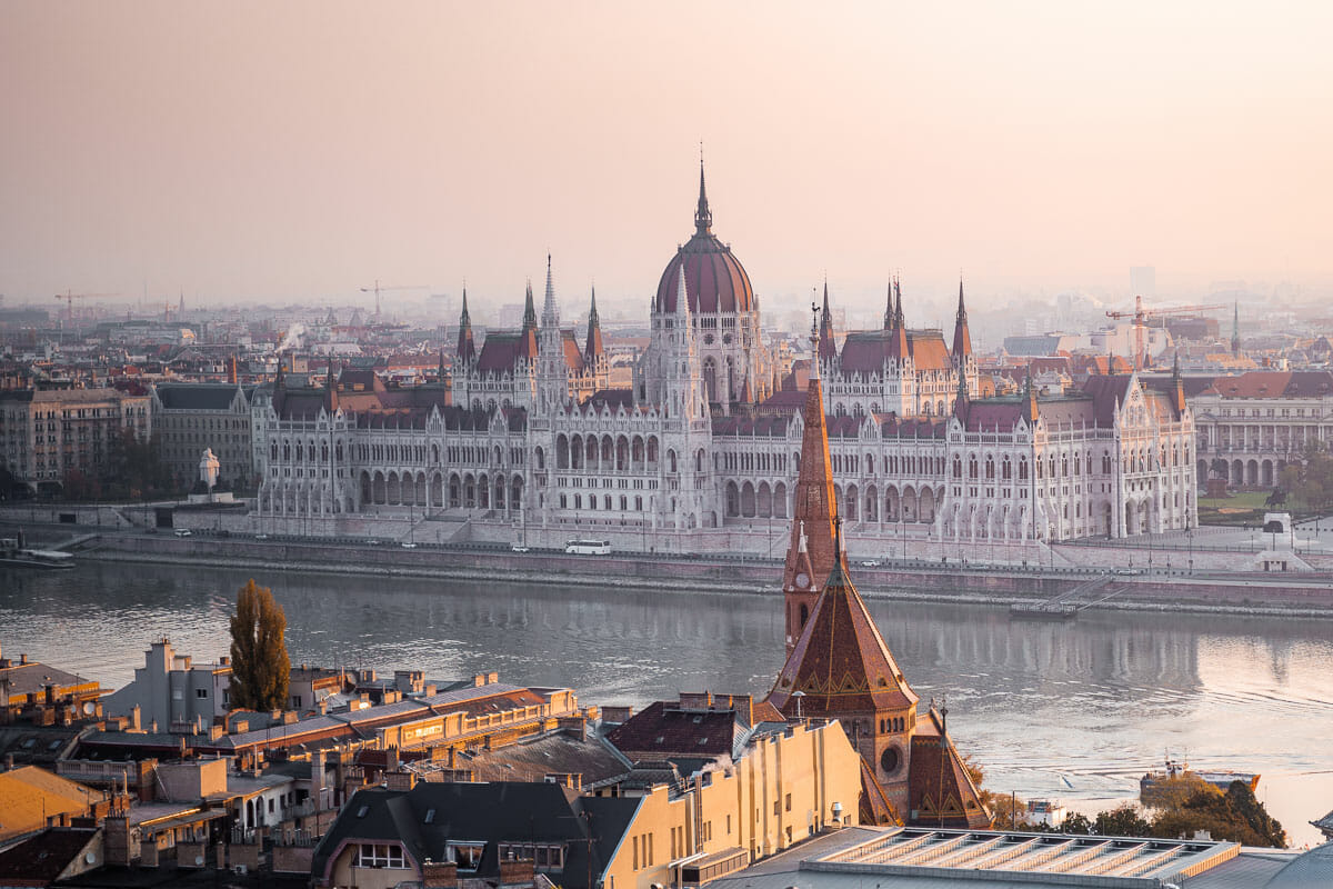 Hungarian Parliament at sunrise