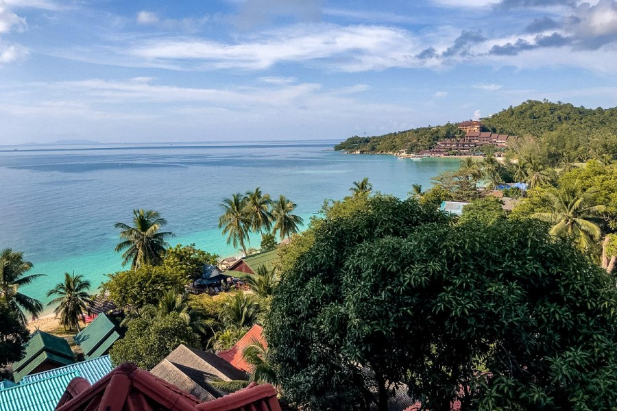 View of the blue sea from Koh Phangan, Thailand