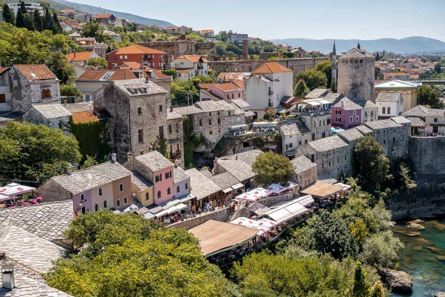 View of the city of Mostar in Bosnia-Herzegovina
