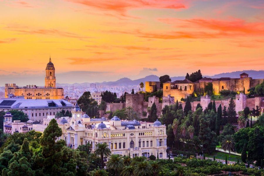 Panoramic view of Malaga, Spain