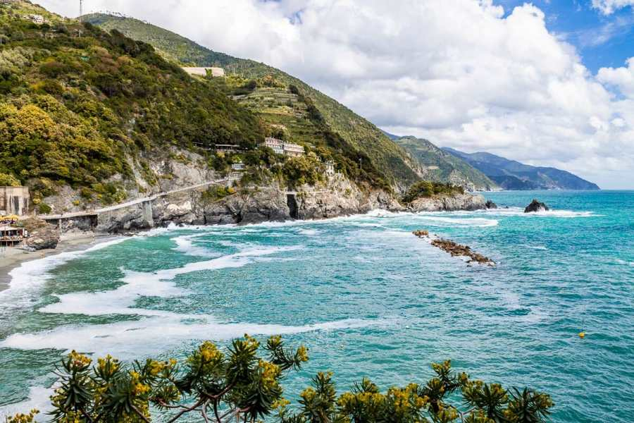Panoramic view of the coastline at Cinque Terre, Italy