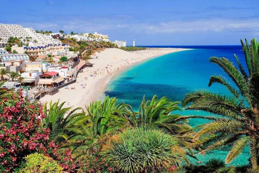Playa de Morro Jable beach on Fuerteventura, Spain