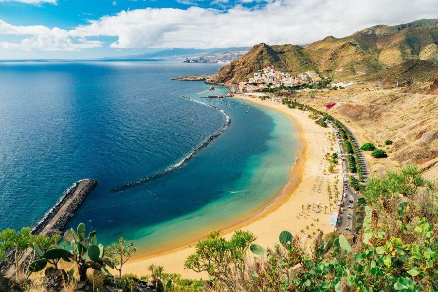 Playa de las Teresitas beach on Tenerife, Spain