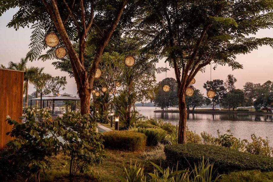 Sunset at the Lotte Hotel Yangon
