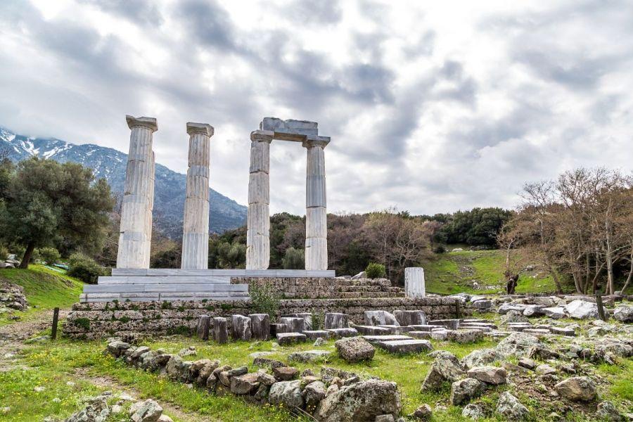 Temple of the Great Gods in Samothraki, Greece
