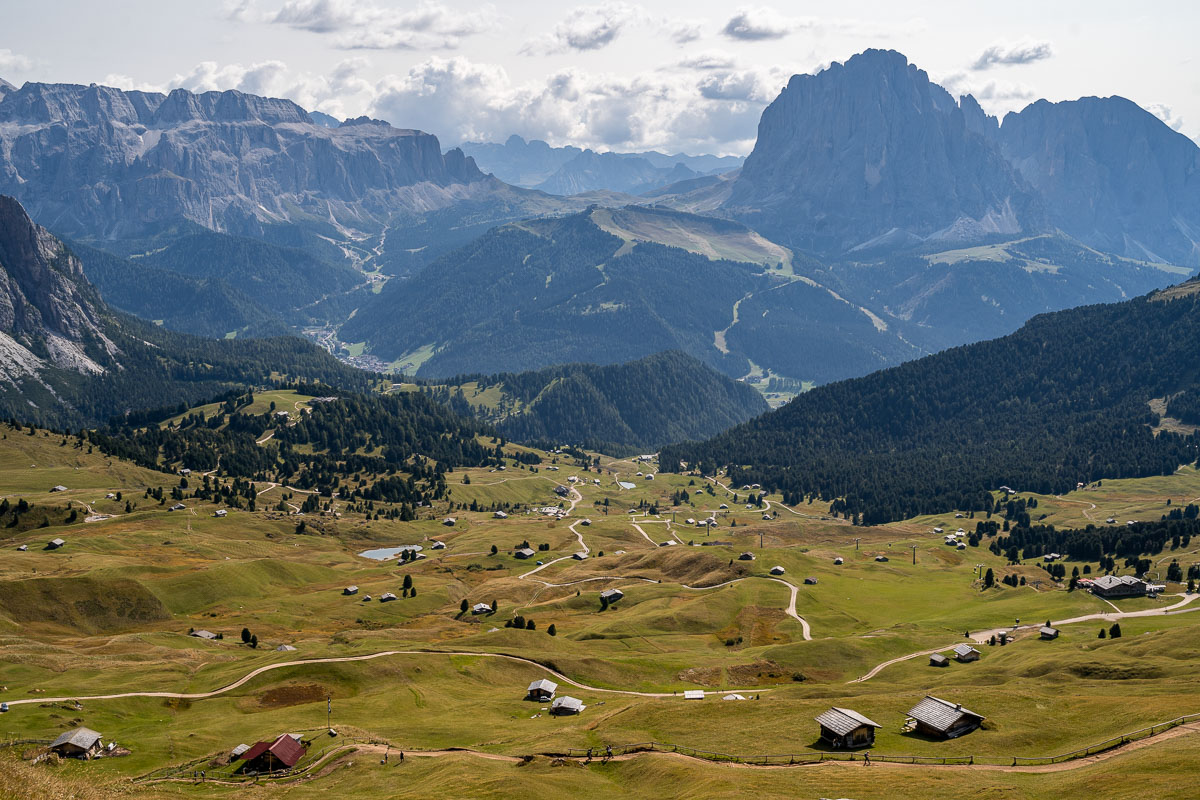 View from the top of Seceda in the Dolomites