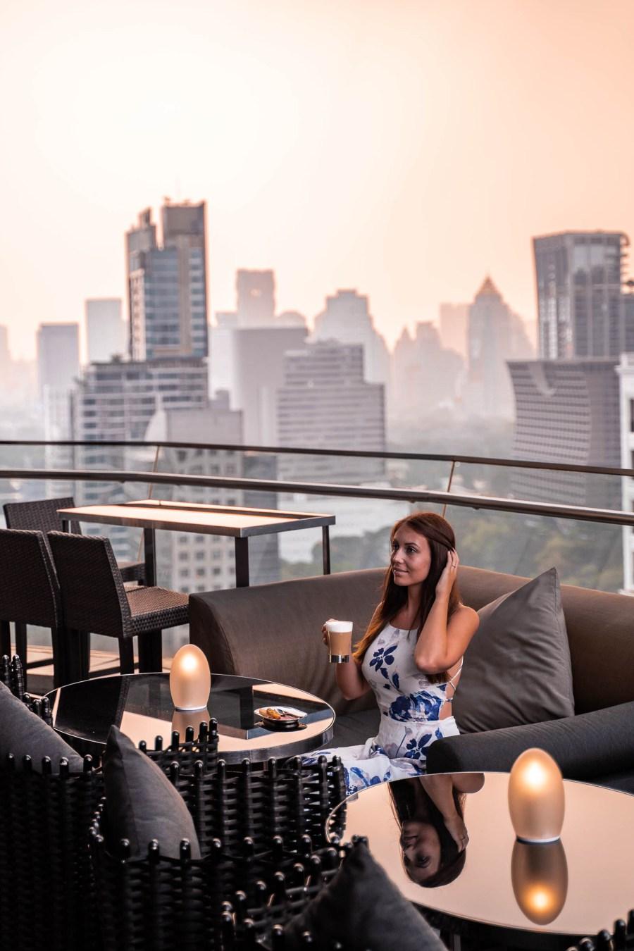 View from the terrace of The Okura Prestige Bangkok