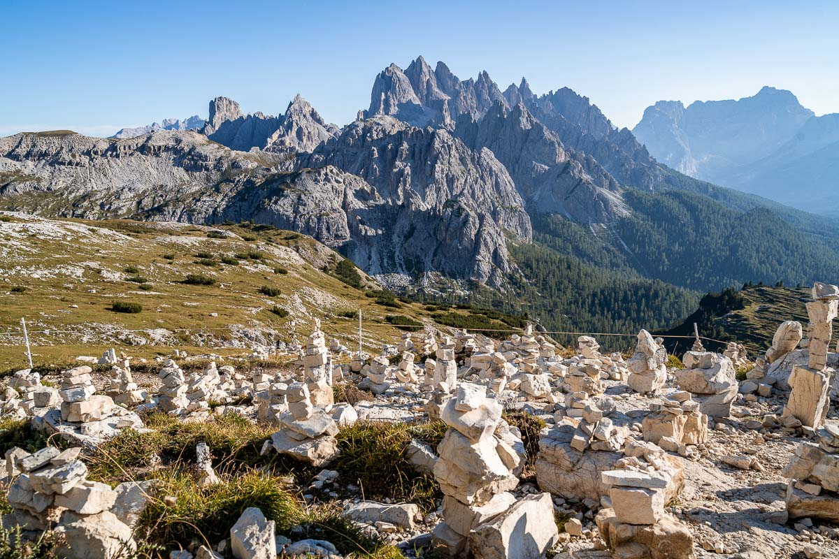 View on the Tre Cime di Lavaredo hike