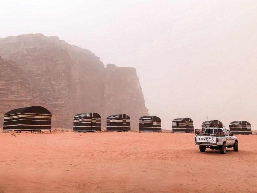 Tents in the Wadi Rum, Jordan