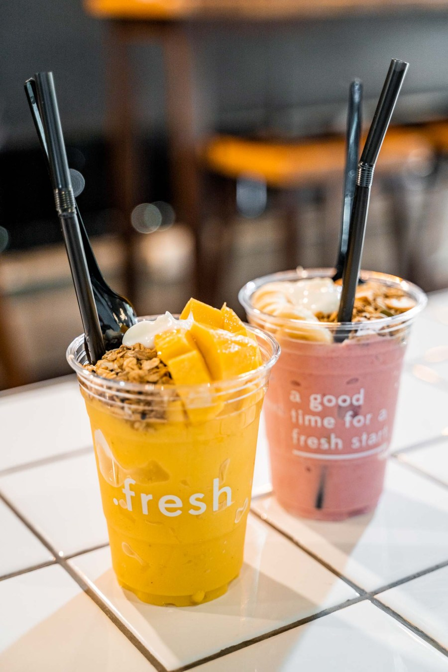 Smoothies for breakfast in Chiang Mai at .fresh Cafe