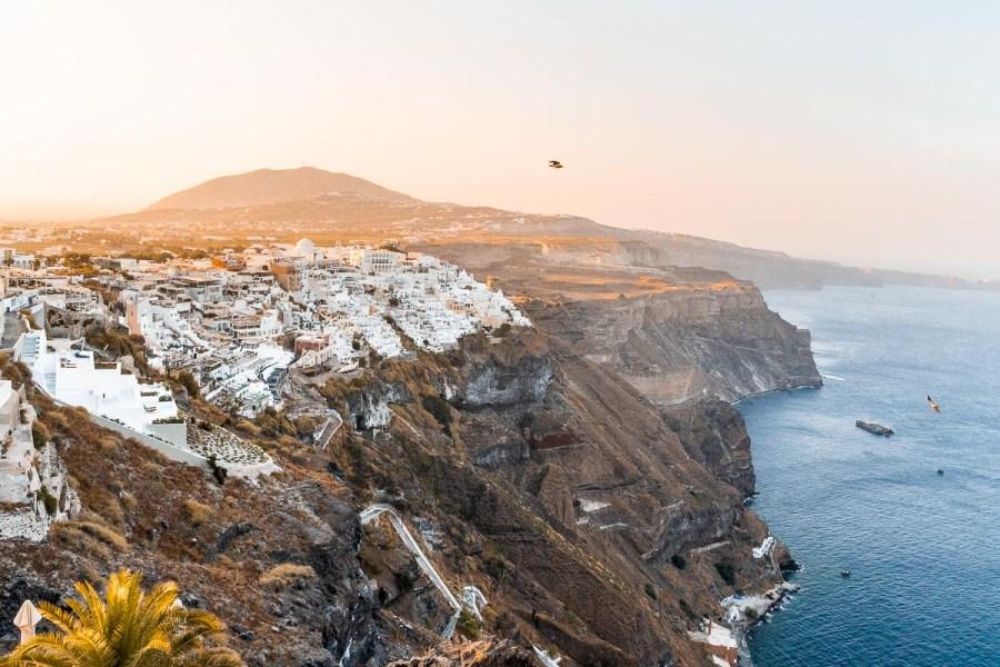 Sunrise in Fira, Santorini