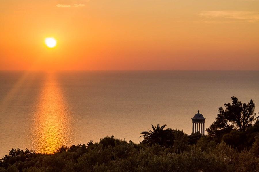 Sunset at Son Marroig in Mallorca